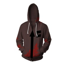 Free shipping woman and mans Japanese Angels of Death Zack cosplay zipper hoodie jacket JQ-2605