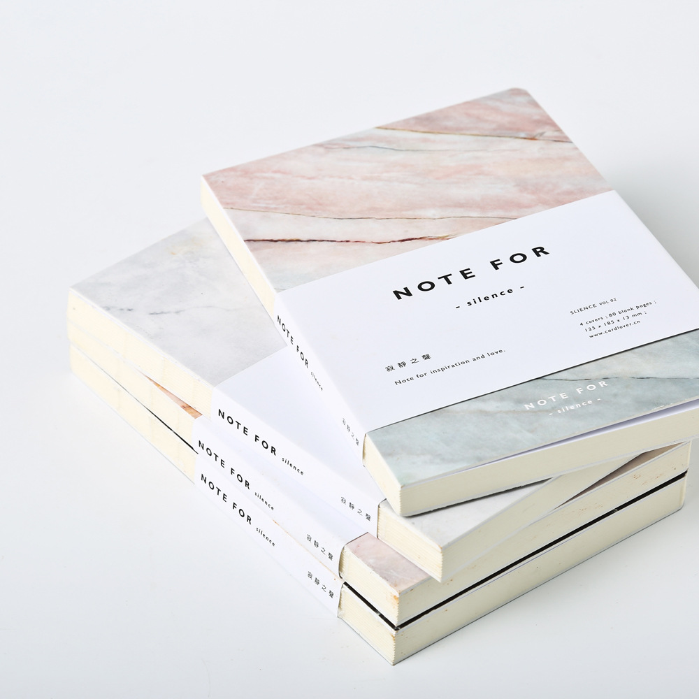 Giapponese Sveglio Della Cancelleria Nota per Silenzio 80 Pagine Marmo Disegni A5 Pagine Vuote Notebook Ufficiale DIY Diario Personale Note Book