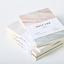 Японские симпатичные канцелярские Примечание для тишина 80 страниц Мрамор конструкции A5 пустых страниц Тетрадь журнал Сделай Сам личный дневник блокнот
