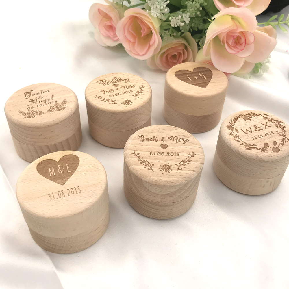 ca25478701 Custom Ring Box Personalized Wedding Valentines Engagement Wooden Ring  Bearer Box Rustic Wedding Ring Box Holder