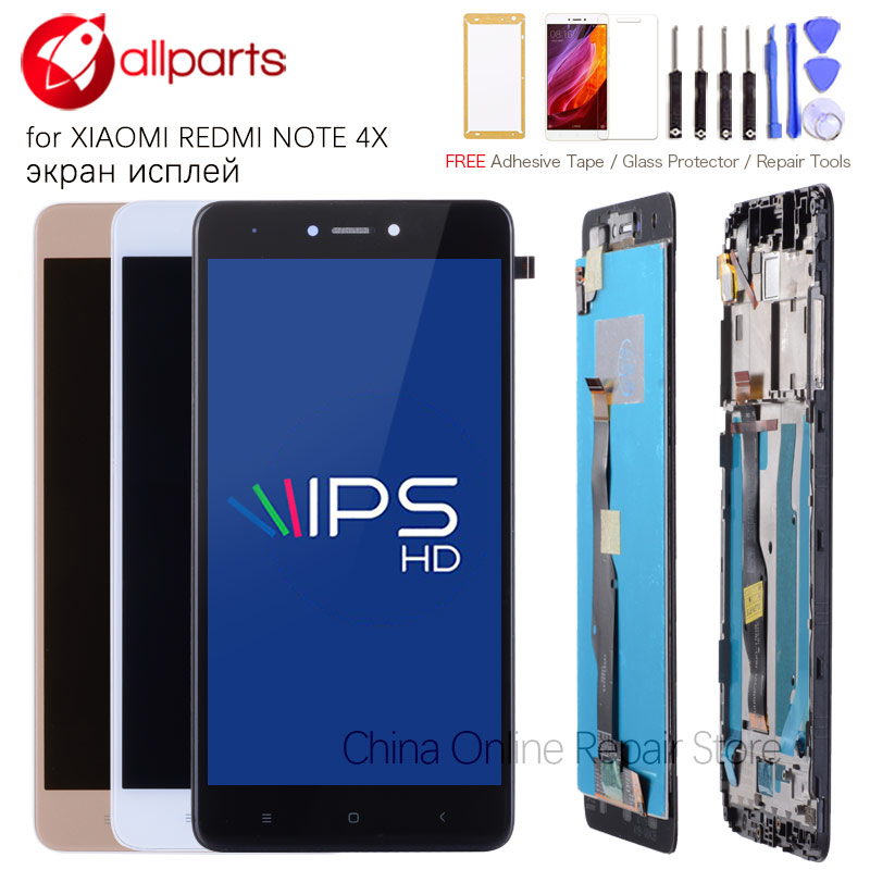 5.5 MTK Helio X20 IPS Note4X Pro LCD Display For XIAOMI Redmi Note 4X Display Touch Screen Digitizer With Frame Replacement