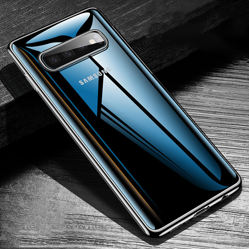 Case For Samsung Galaxy S10 Case Clear Bumper TPU Silicone Plating Cover Case For Samsung Galaxy S10 S10 Plus S10 E