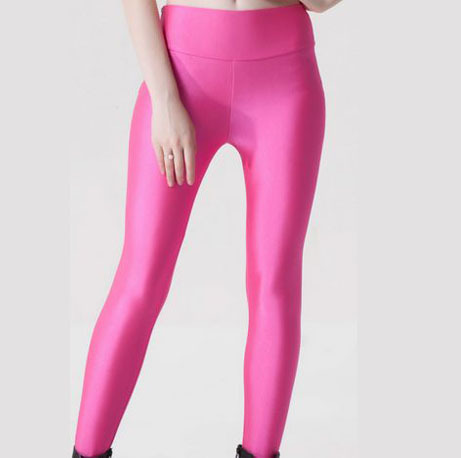 Pink spandex tights