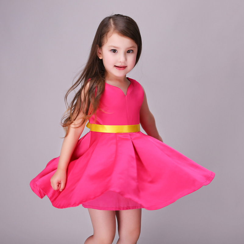 5c8b84791 New Gown Dresses Kids Red Baby Girls Wedding Dress Party Princess ...