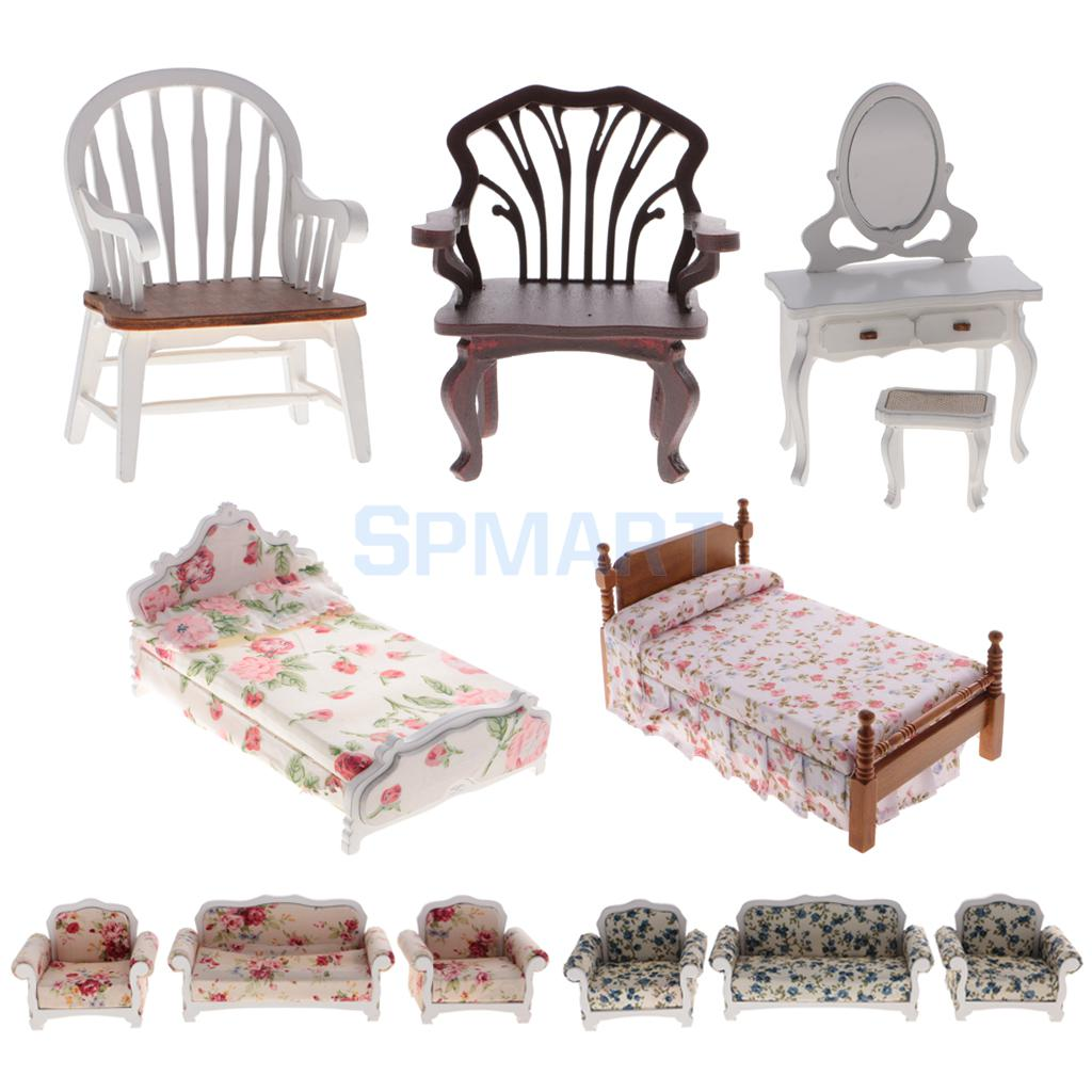 Furniture for Dolls FLOOR LAMP AND FURNISHING Dollhouse Miniature Scale 1:12 Kit