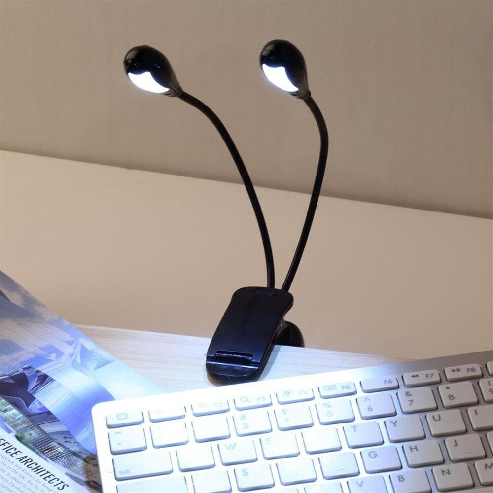 Lampen & Schirme KüHn Dual Head Led Clip Tisch Licht Für Buch Lesen Klavier Musik Stehen Notebook Schreibtisch Lampe BüGeln Nicht Licht & Beleuchtung
