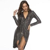 Vestido De Festa Zanzea 2019 Promotion New Regular Straight Vestido Longo Maxi Dress Sequin Irregular Straps Bag Hip Tight Sexy