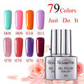 DIY Nail Art Salon Eco-friendly  Nail Varnish 79Colors UV Gel Nail Polish 8ML1Pcs Soak Off Gel Lucky  3 Weeks or Above Gouserva