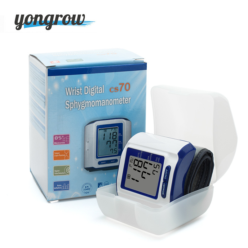 Yongrow Wrist Blood Pressure Monitor Automatic Health Care Portable Large Screen Meter Family Blood pressure Testing Machine 50pcs tip107 to 220