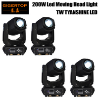 TIPTOP 4 Pack 200W LED Moving Head Lighting Spot Lighting Dj Set Gobo Christmas Lights Dj