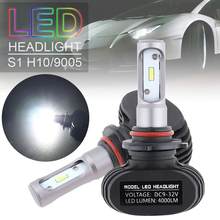 2pcs H10 9005 S1 50W 8000LM 6000K CSP LED Auto Car Headlight Kit Automobile Fog Lamp Hi or Lo Light Bulbs for Cars Vehicles