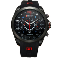 Curren 2018 New Fashion Military Watches Brand Design Army Calendar Men Clock Rubber Sport Luxury Wrist