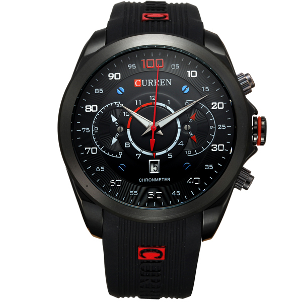 цена на Curren 2018 New Fashion Military Watches Brand Design Army Calendar Men Clock Rubber Sport Luxury Wrist Watch relogio masculino