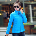 2017 Female Winter Jacket Women Winter Coat Parka Short Stand Collar Slim Down Cotton-padded Jacket Plus Size 3XL Outerwear Y336