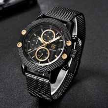 BENYAR Sport Fashion Watches for Men Mesh & Rubber Band Waterproof Luxury Brand Quartz Watch
