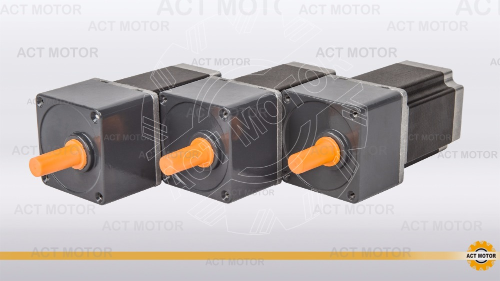 Free ship from Germany ACT Motor 3PCS Stepper Geared Motor 23HS8430AG5 5 1 Ratio 3A 9