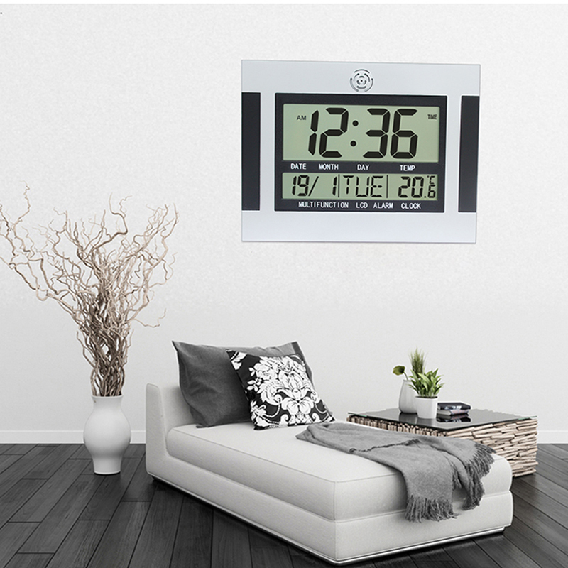 Large LCD Digital Wall Clock Table Kitchen Watch Horloge Mural Wandklok on