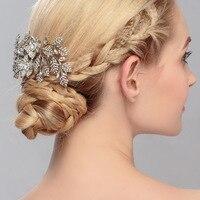 Kadın Lady Kızlar hediyeler Saç Tarak Bırakır Kristal Çiçek Saç Pin Klip aksesuarları Süslemeleri Takı Kadınlar JewelryHX082