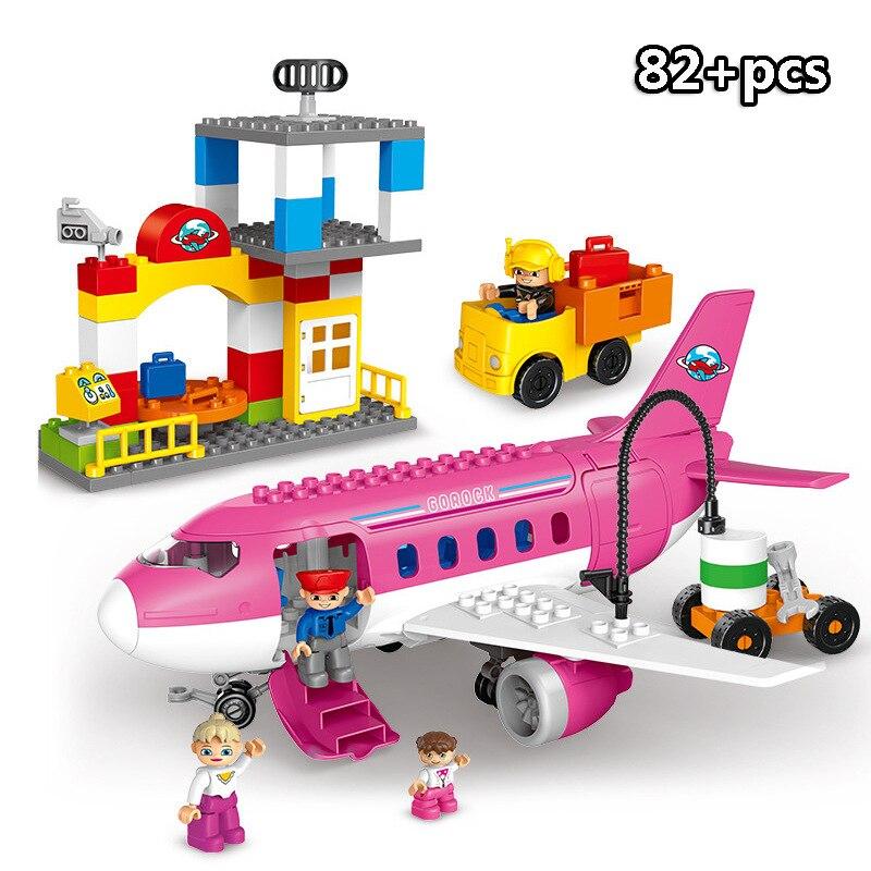 13-109pcs Large particles City Transport Team Car Model Series Building Block Bricks Compatible Duploe Toys for children Kids GIft (12)