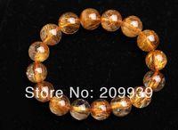 huij 00449 Natural AAA Grade Copper Rutilated Quartz Beads Bracelet Healing