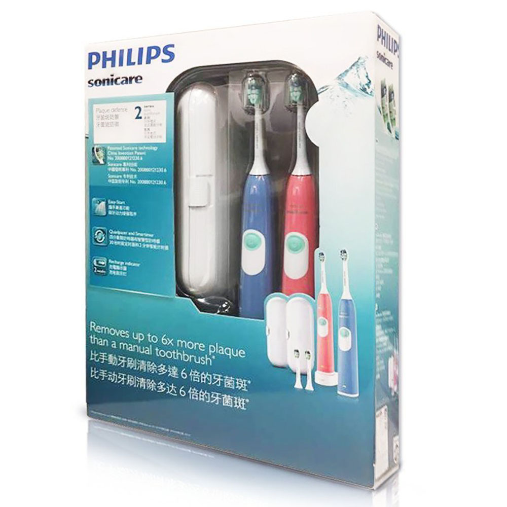 PHILIPS Sonicare HX6234/35 Electric Toothbrush Rechargeable with Waterproof 31000 rpm Charging Indicator for Lovers 2 PACK image