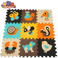 MEI QI LEGAL 9 PCS Esteira do Enigma Da Espuma Piso Tapetes de Jogo De Espuma Para crianças tapetes e carpetes tapetes tapetes eva criança animal carpet