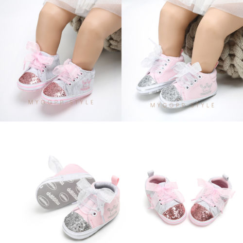 Pudcoco Shoes Prewalker Canvas Soft-Sole Newborn Infant Toddler Baby-Girl Crown