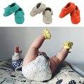 Новорожденный первый уокер телячья кожа ребенка мокасины мальчиков малыша обувь анти-слип детская обувь девушки дети обуви 0-4y