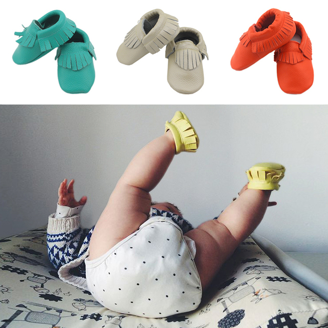 Newborn Baby Shoes First Walker Cow Leather Baby Moccasins Boys Toddler Shoes Anti-slip Infant Shoes Girls Kids Shoe Soft 0-4y