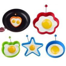 Силиконовая форма для приготовления яиц, форма для блинов, кухонная форма для приготовления пищи, обжаривание яиц, омлетная форма