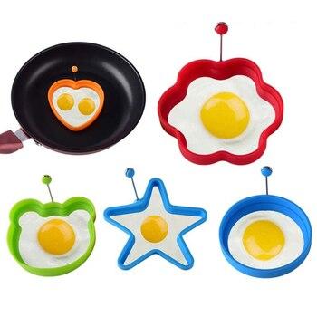 Φόρμες Σιλικόνης για Τηγανητά Αβγά, Ομελέτα και pancake Φόρμα Σιλικόνης με Σχήματα για Αυγά (1τμχ)