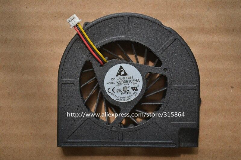 ¡Nuevo! Ventilador del refrigerador de la CPU del ordenador portátil para HP Compaq Presario CQ50 CQ60 CQ70 G50 G60 G70 489126-001 KSB05105HA