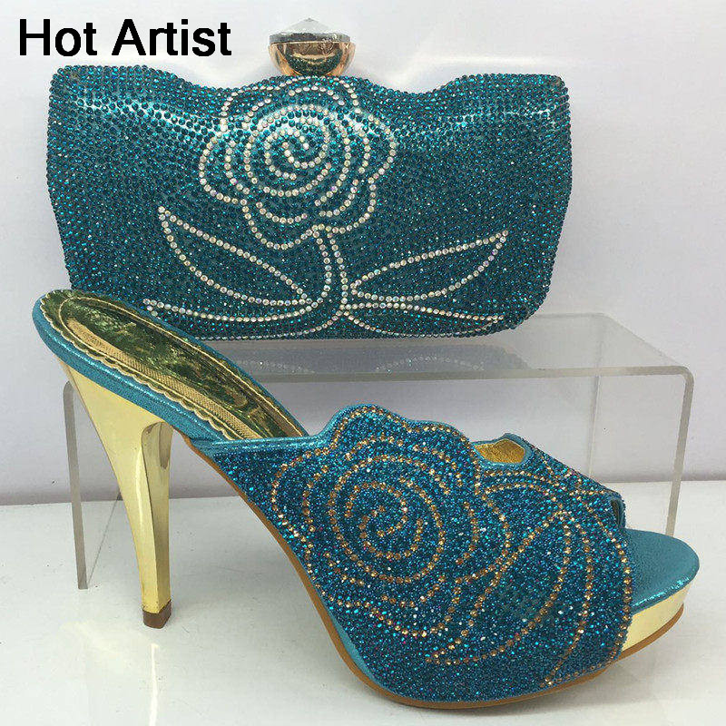 Hot Artist Summer Style Africa Woman Shoes And Bag Set Hot Selling Fashion Slipper Shoes And Purse Set For Party BL425C hot artist summer style africa woman shoes and bag set hot selling fashion slipper shoes and purse set for party bl425c