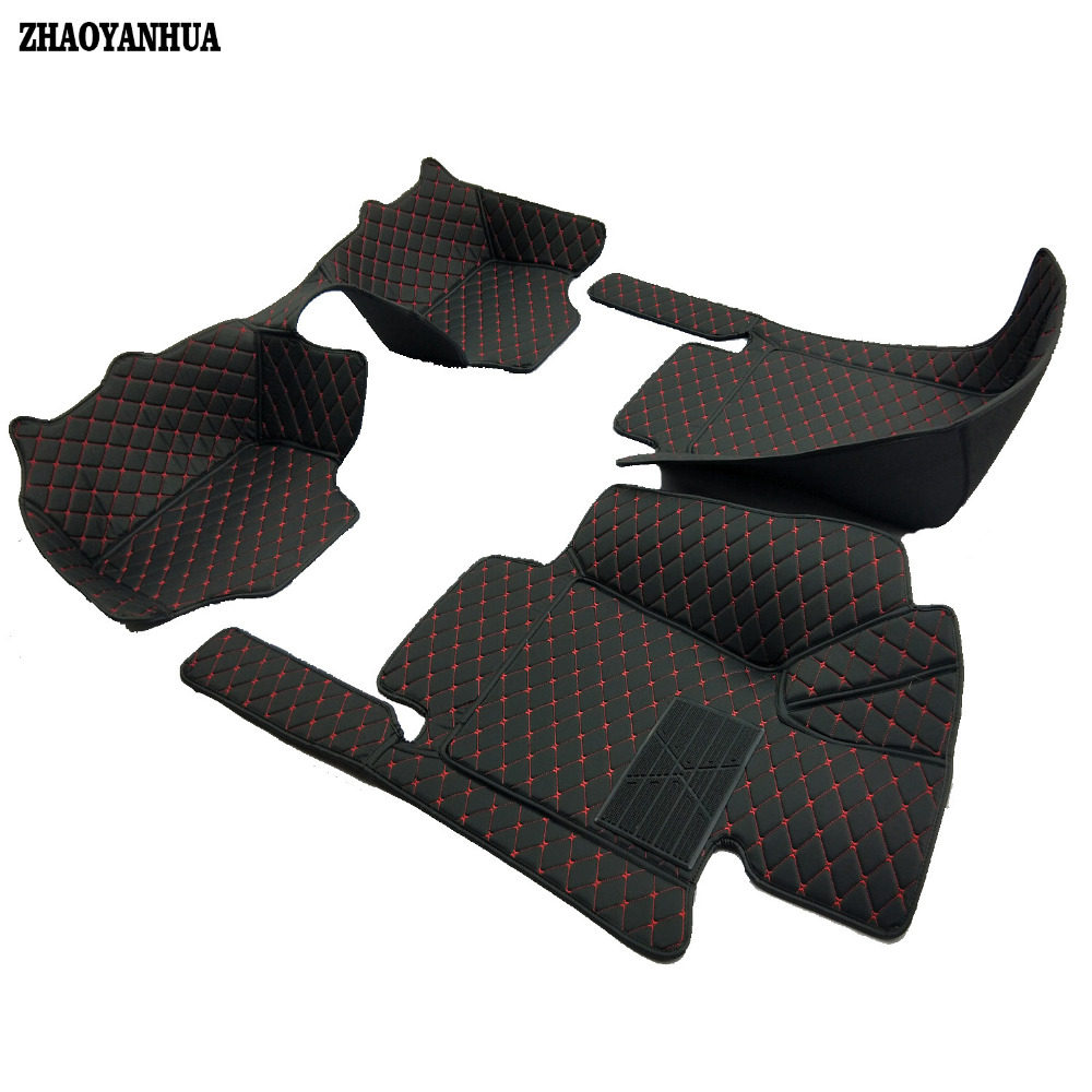 ZHAOYANHUA Custom fit Right hand drive car floor mats for BMW 3 series E46 E90 E91 E92 E93 F30 F31 F34 GT car styling carpet