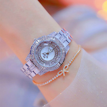 купить Luxury Rhinestone Silver Women Watches Ladies Diamond Casual Dress Watch Female Stainless Steel Quartz Wristwatches montre femme по цене 1165.85 рублей