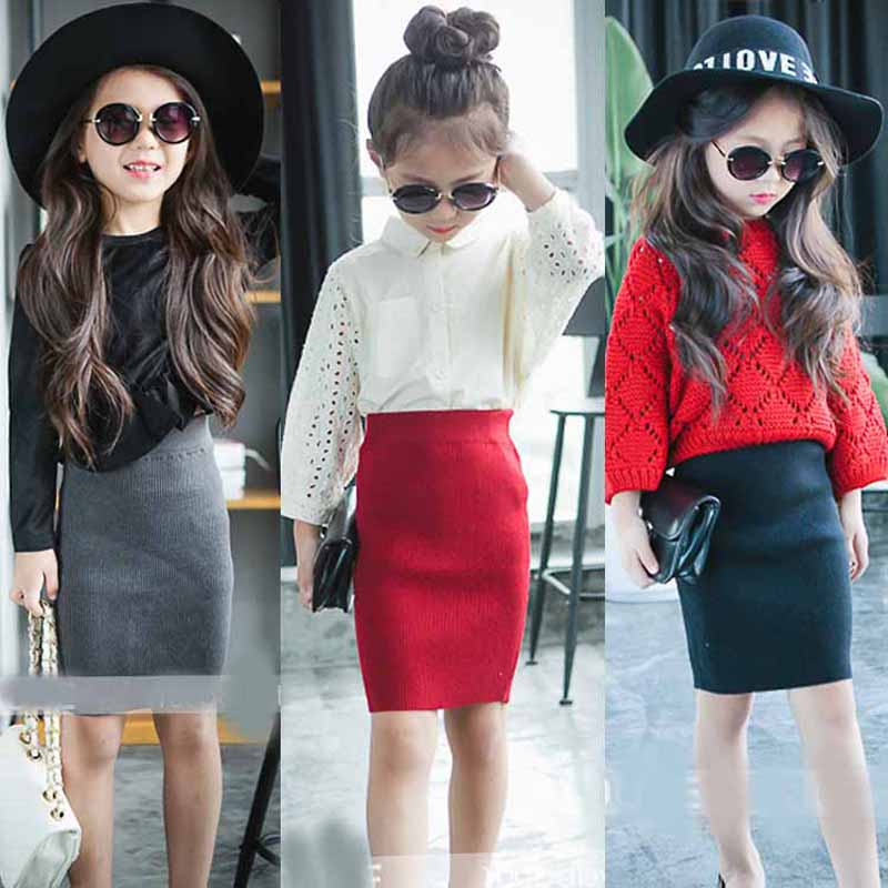 Retail Girls Fashion Skirt 2016 New Summer Style Childrens