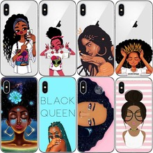 2bunz Melanin Poppin Aba Cases Fashion Black Girl  hard plastic Cover For iPhone XR XS MAX 5 5S SE 6 6SPlus 7 7PLUS 8Plus Coque цены онлайн