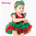 Christmas baby set Red Color Bodysuit Cotton Baby Rompers and Tutu Skirt 3Pcs New Born Autumn Bebe Clothing Infant Clothes Xmas