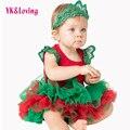 Christmas baby набор Красный Цвет Боди Хлопка Комбинезон и Юбки 3 Шт. Новорожденного Осень Bebe Одежда Детская Одежда Xmas