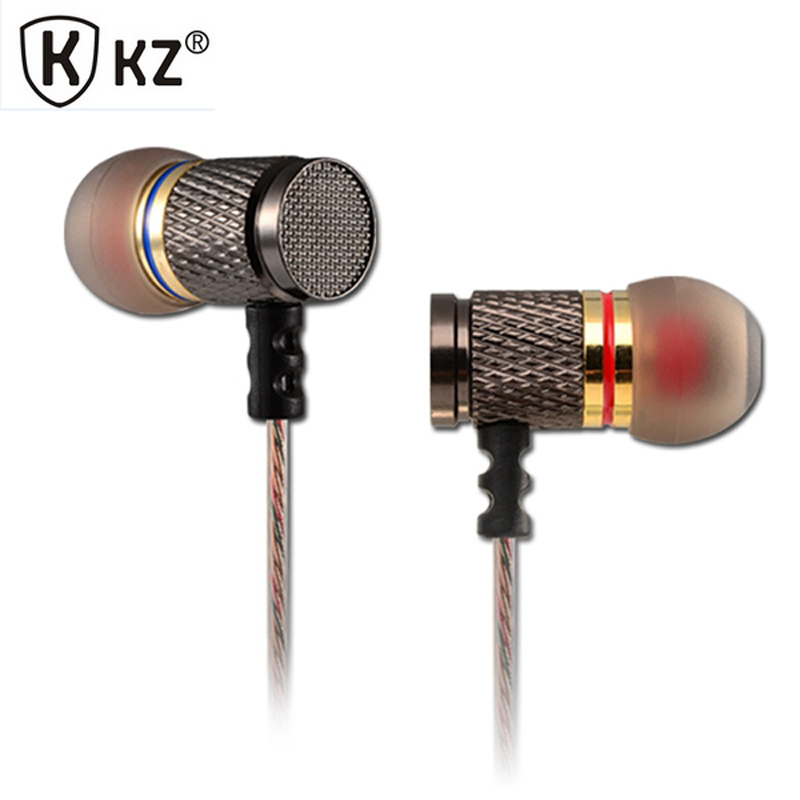 Original KZ EDR1/ED2 In-ear Earphone High Quality HiFi Sport Earbuds Auricular Metal Fever Heavy Bass Headset fone de ouvido kz ed2 special edition gold plated housing earphone with microphone 3 5mm hd hifi in ear monitor bass stereo earbuds for phone