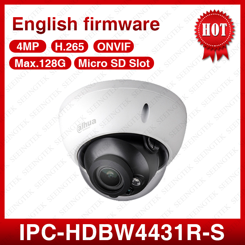 bilder für Dahua IPC-HDBW4431R-S 4MP POE 2,8 MM Feste Kuppel Buil-in Mic EXIR Outdoor Cctv IP Kamera Mit SD Slot