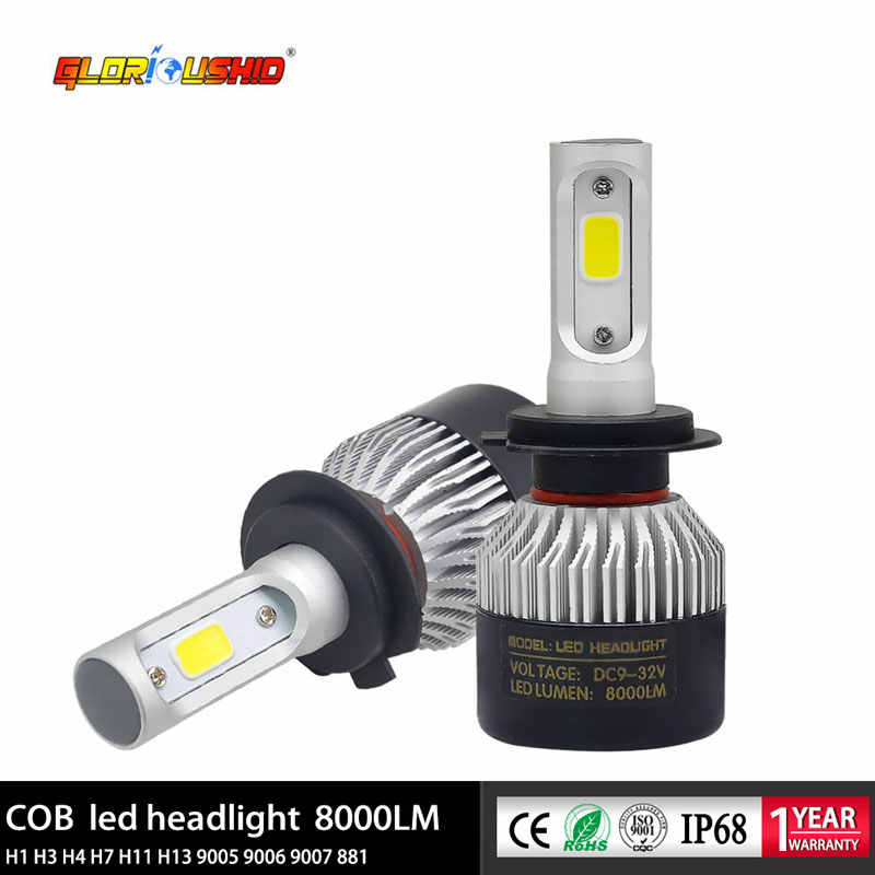 H11 Led H7 H4 H8 H9 9005 HB3 9006 HB4 Car Led Headlight Bulb 72W 8000lm Auto Fog Light Headlamp 6500k 12V Car Lamp