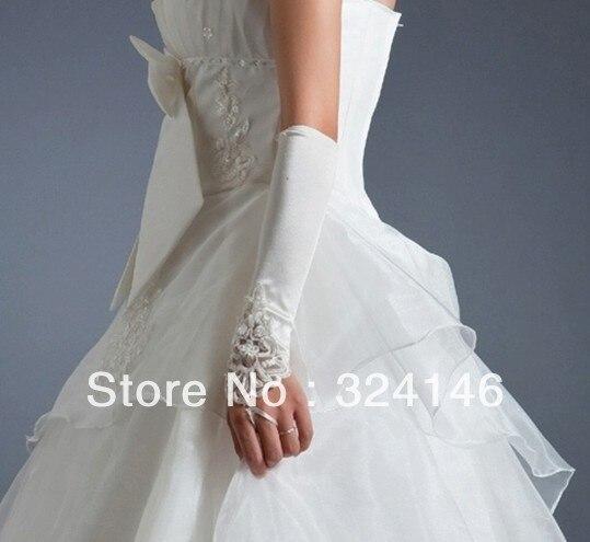 Cheap !!! wholesale Bridal gloves Wedding white fingerless Gloves