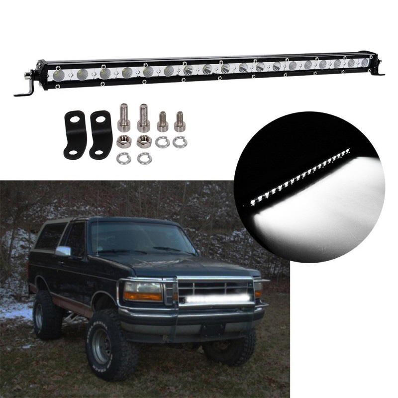 Car 21 Inch 54W LED Work Light Bar Single Row driving Lamp Ute ATV SUV for Truck Spot Flood Combo Beam