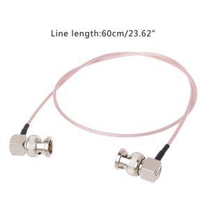60 см HD SDI видео разъем кабель RG179 BNC штекер BNC правый угол штекер для BMCC камера blackmagic