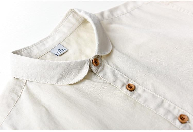 Suehaiwe's Premium Casual Linen Dress Shirt hommes à manches longues - Vêtements pour hommes - Photo 3