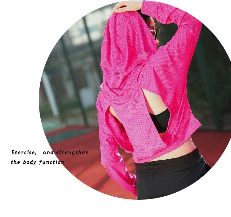 New Arrival Kobiety Czarny Gym Fitness Joga Koszule Compression - Ubrania sportowe i akcesoria - Zdjęcie 3