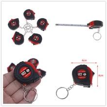Retractable Ruler Keychain Tape-Measure Heart-Shaped Mini 1M 1PC