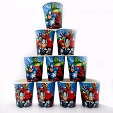 10pcs/lot The Avengers Party Supplies Paper Cup Cartoon Birthday Decoration Baby Shower Theme Festival Favors Kids Girls Boys