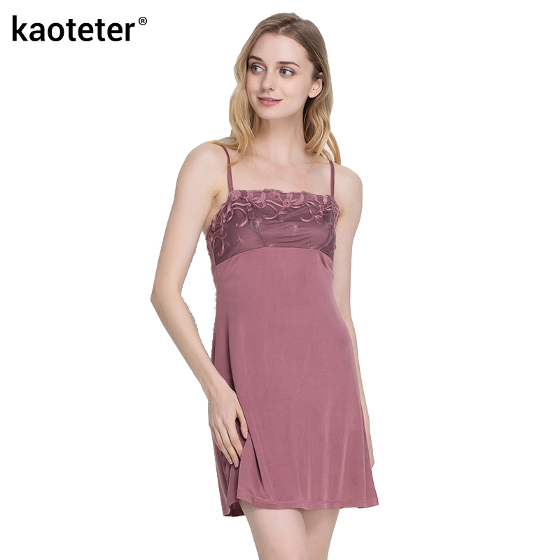 100% Pure Knitted Silk Women's Full Embroidery Slips Female Lace Underskirt Women Sexy Petticoat Underdress Lingerier Chemise